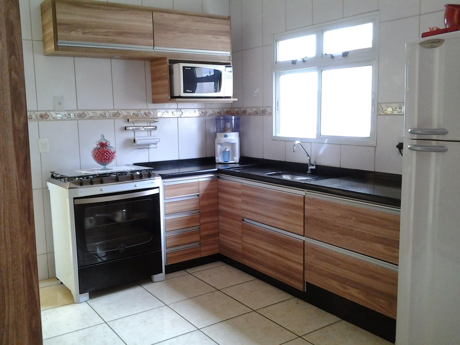 Na Medida Móveis: Novo projeto da cozinha com mudança do lay out  #644533 1600 1200