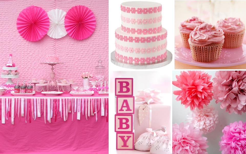Kids party hub baby shower and christening theme ideas for Baby girl baptism decoration ideas