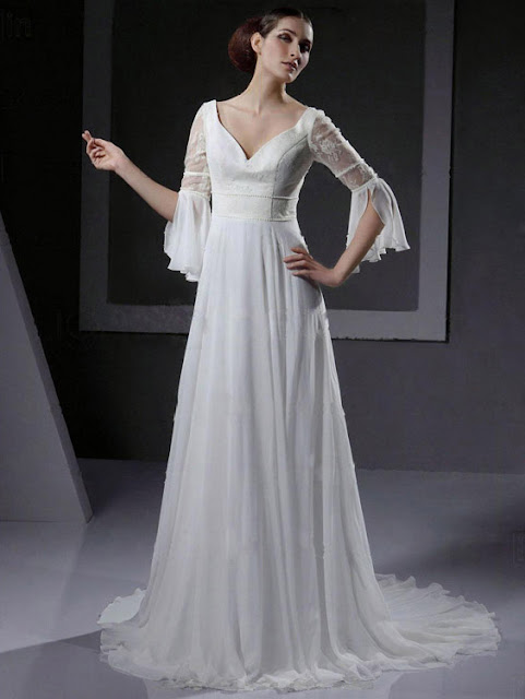 Choose your fashion style 10 more wedding dresses with for Wedding dress bell sleeves