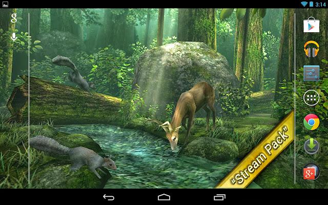 live wallpaper deer in forest