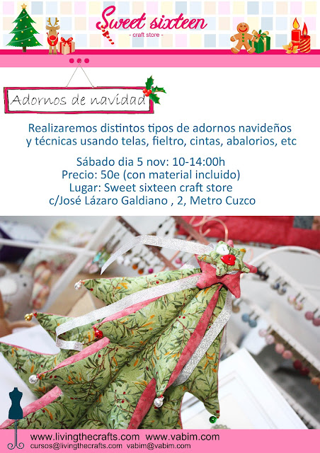 Taller adornos de navidad, sweet sixteen craft store Madrid