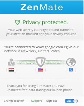 اضافة ZenMate فتح المواقع المحجوبة وتغير الاي بى