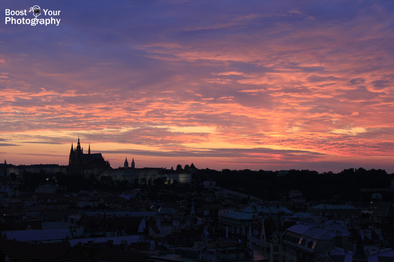 Sunset over Prague Castle | Boost Your Photography