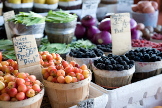 fresh produce at farmers' market