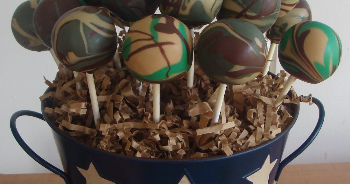 How To Make Pink Camo Cake Pops