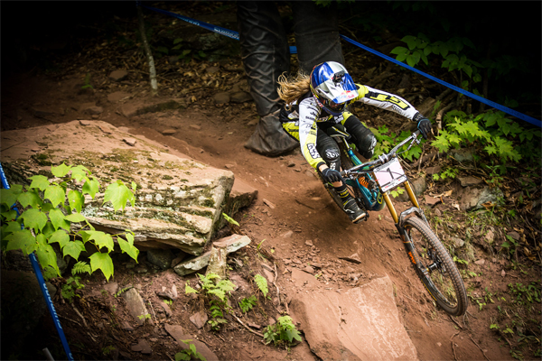 2015 Windham UCI World Cup Downhill: Practice HIghlights Rachael Atherton