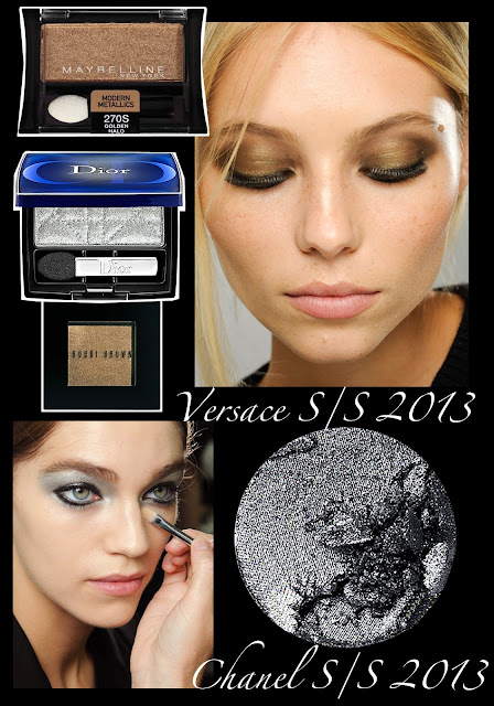 2013 Beauty Trends metallic eyes