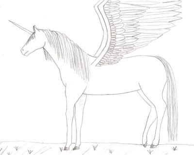 6 The Unicorns With Wings Coloring Sheet
