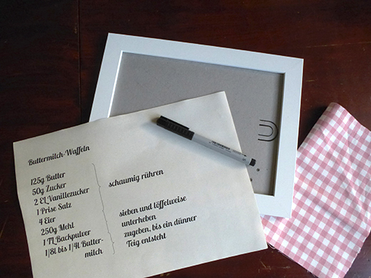 Anleitung, DIY, Rezeptrahmen, Küche, Blog, Tutorial