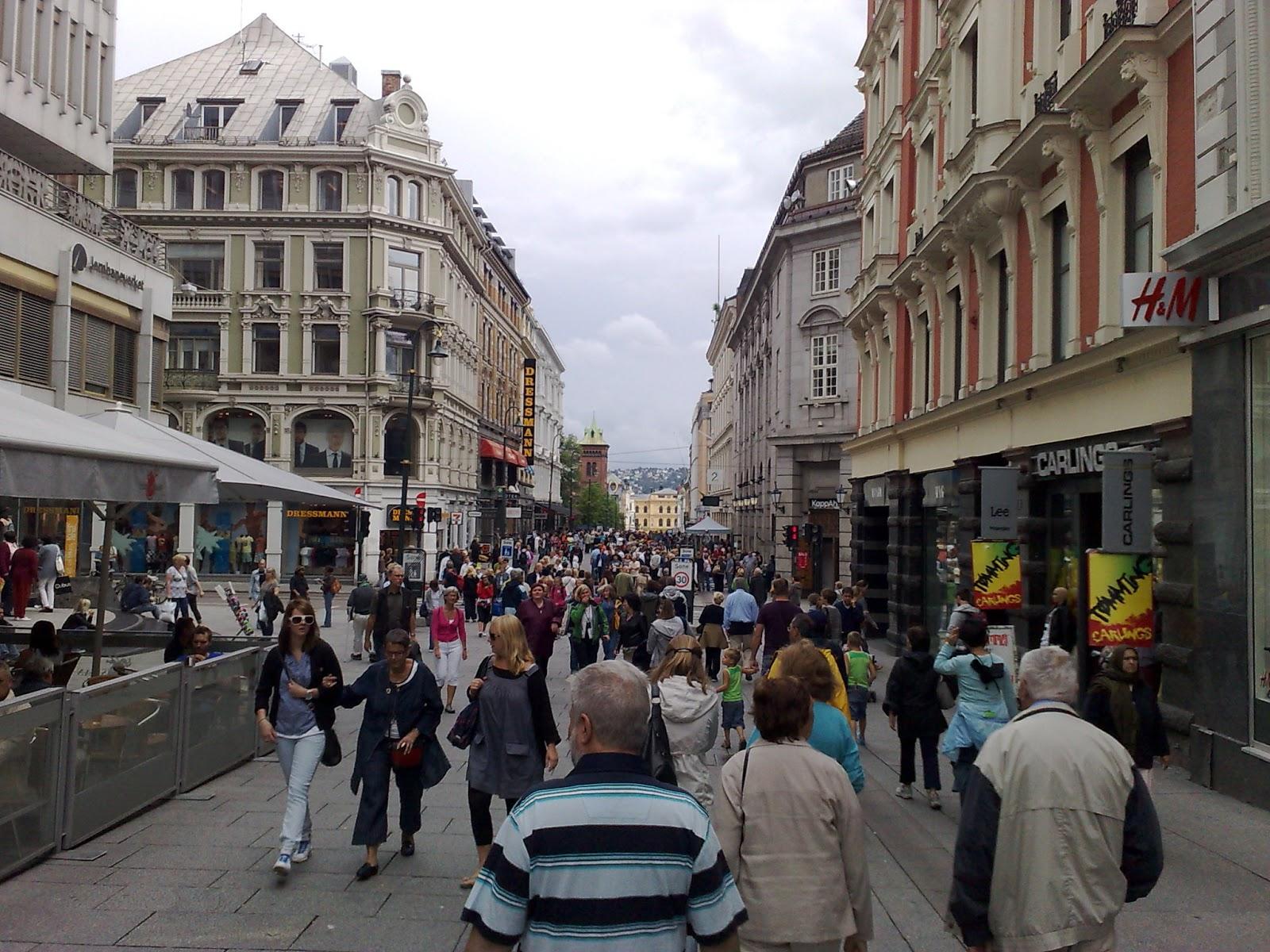 Calle comercial de Oslo
