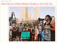 Dakota Runners Protest Bakken Pipeline in New York