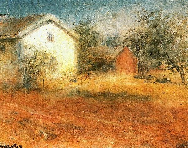Нильс Кройгер. Старый деревенский дом. 1887.