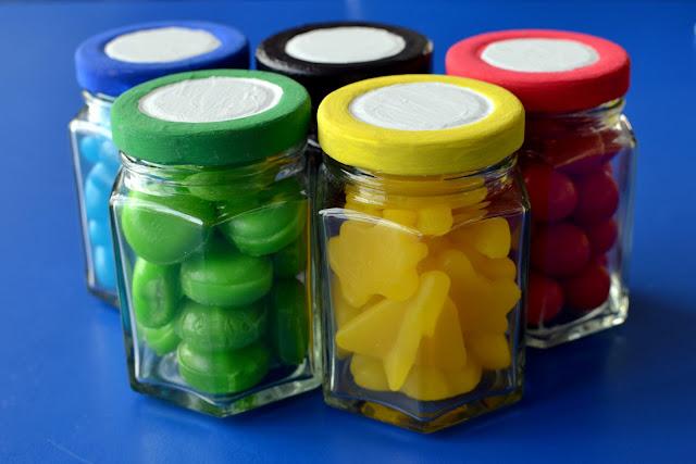 olympic ring sweet jars