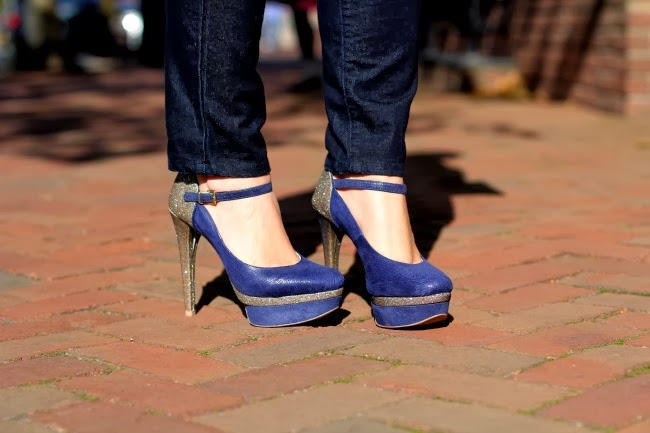 Blue Heels from Barbara Kras of Brazil