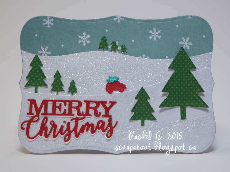 Handmade card, Winter, Holidays. Impression Obsession, Spellbinders