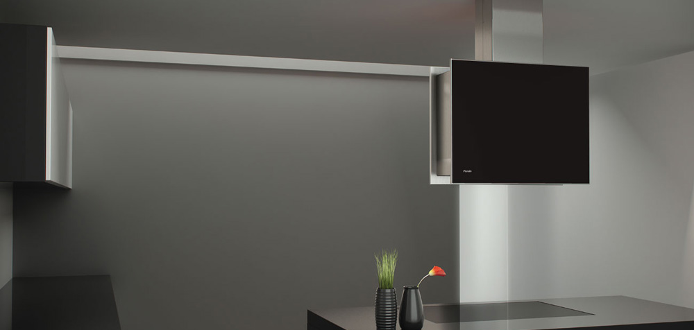 Hotte design pour lot i 760 pando - Hotte ilot noire ...