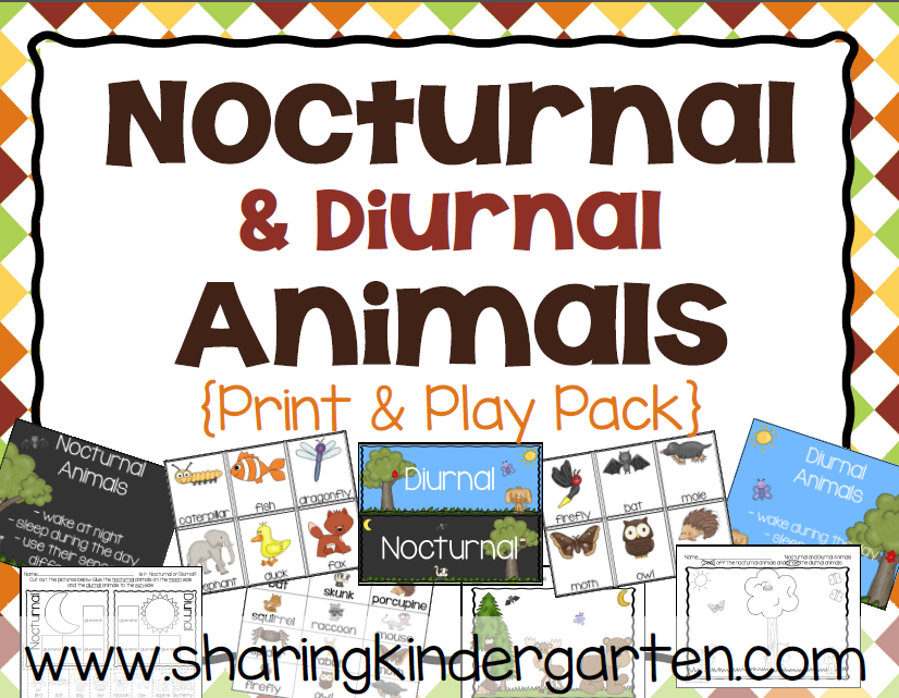 http://www.teacherspayteachers.com/Product/Nocturnal-and-Diurnal-Animals-Print-Play-Pack-1498071