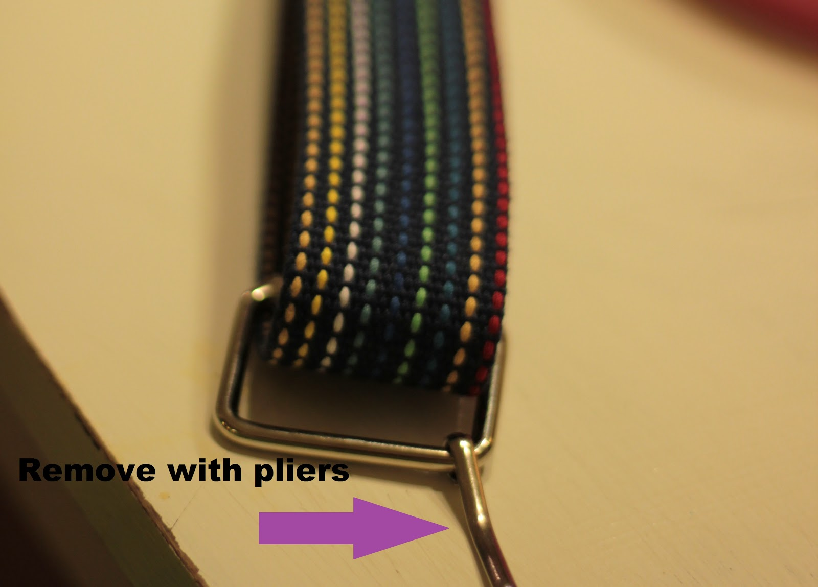 how to make a guitar strap out of a belt