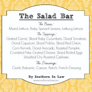 Healthy Party Menu - Salad Bar Menu