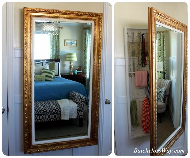 Wall Mirror With Storage batchelors way: mirror, mirror on the wall filled with secret storage!