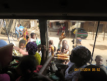 Chicken Bus food hawkers, bus from Mozambique Island to Nampula, Mozambique