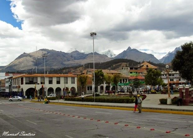 Huaraz, vista dalla Plaza de Armas