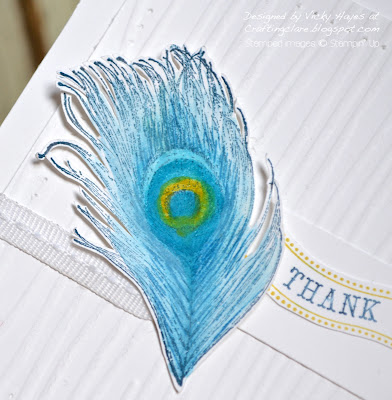 Peacock feather stamp