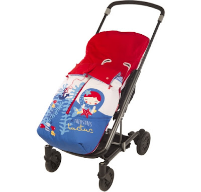 Tuc Tuc Marine Treasures - Spring/Summer Girls Stroller Footmuff