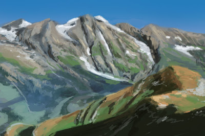 Speedpaint landscape mountains