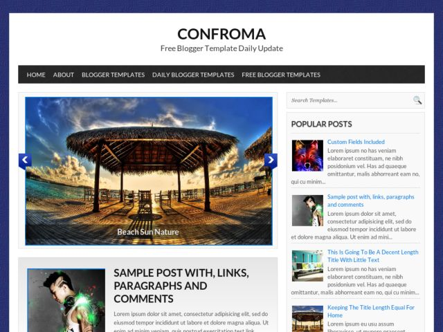 Confroma Blogger Template