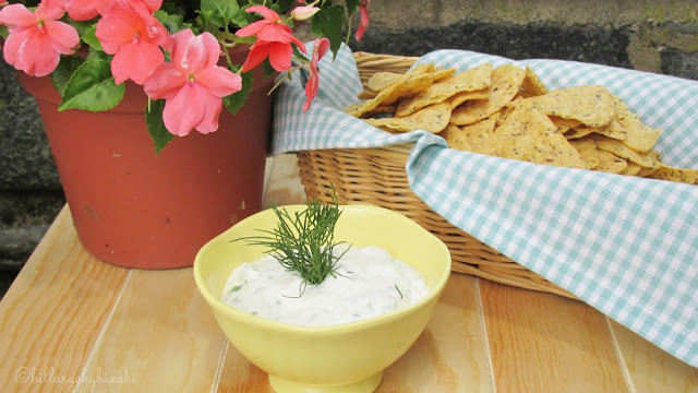 Serve Garlic and Herb Dip made with Stonyfield Greek Yogurt at your next picnic or BBQ
