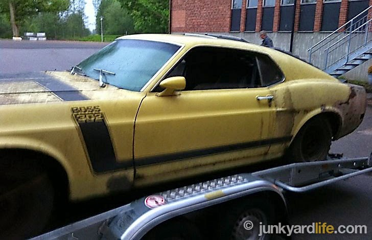 1970 Boss 302 sold in Sweden after 30 years of storage.