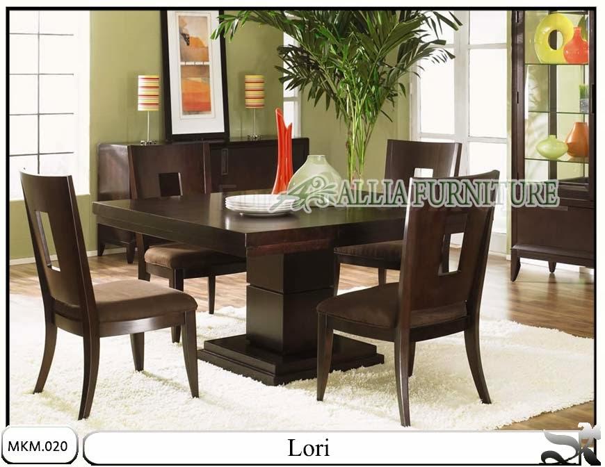 Set kursi dan meja makan minimalis Lori