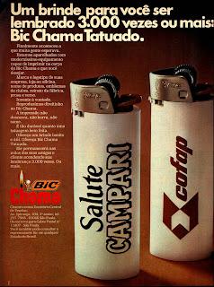 propaganda isqueiro Bic - 1977.  os anos 70; propaganda na década de 70; Brazil in the 70s, história anos 70; Oswaldo Hernandez;