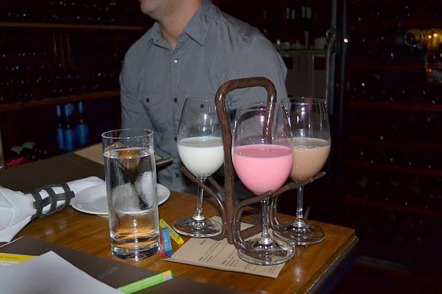 Purple Cafe Seattle milk flight