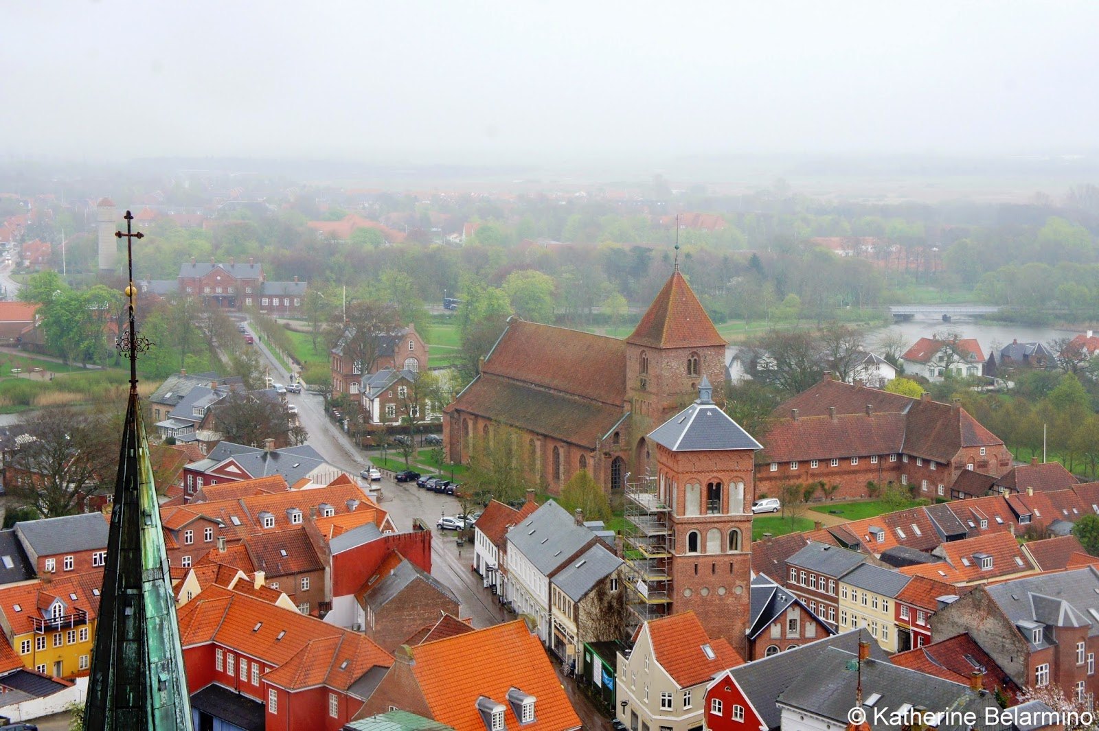 View of Ribe from Ribe Domkirke Denmark