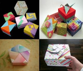 Membuat box: Paper box making1