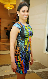Actress Tamannaah  Picture in Short Dress at Celkon Mobile OCT A510 Launch  2.JPG