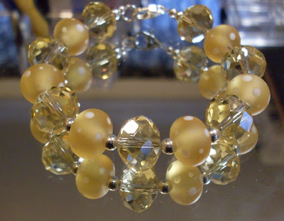 'Shades of Citrine' bracelet by Claire Francis
