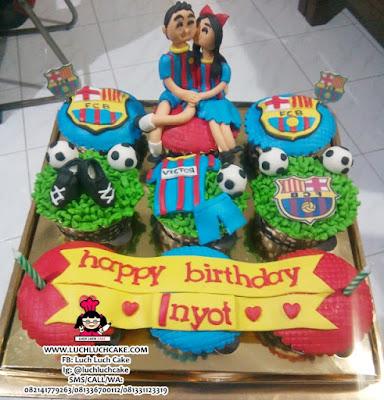 Cupcake Barcelona Fondant Birthday