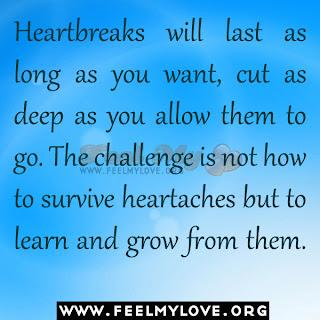Heartbreaks will last as long as you want
