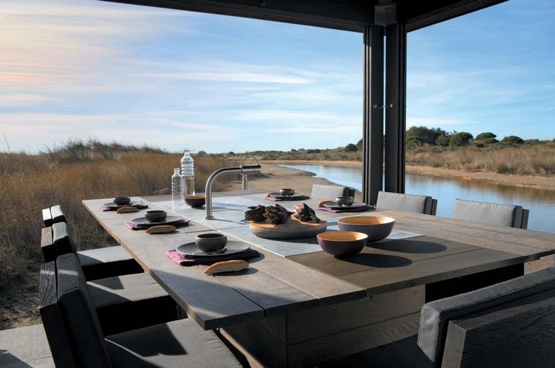 Cuisine et salon d 39 exterieur meuble et d coration - Salon d exterieur ...