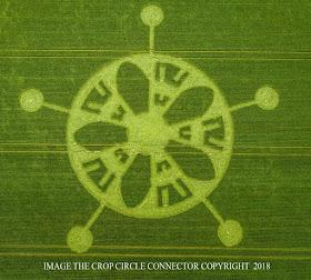 Neuer Kornkreis am 17. Juni 2018 - Rückkehr der Götter der Venus zur Großen Ernte
