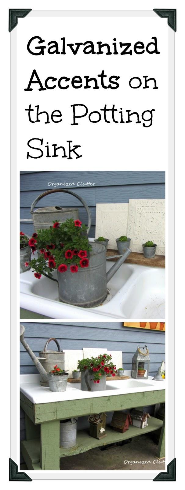 A Rustic Potting Bench www.organizedclutterqueen.blogspot.com