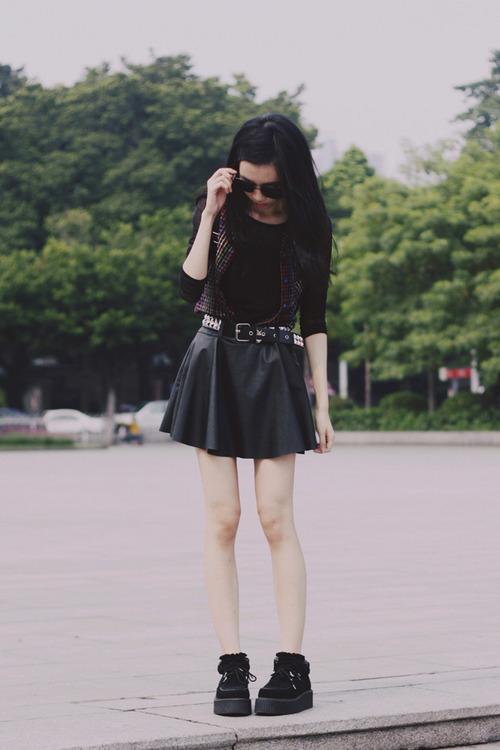 beautiful outfit grunge falda 15