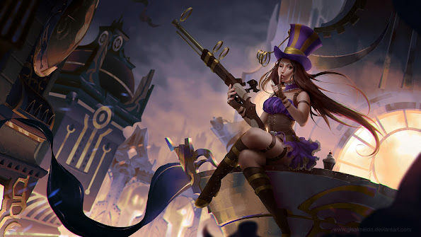 caitlyn league of legends hd wallpaper lol girl champion 1920x1080 8y