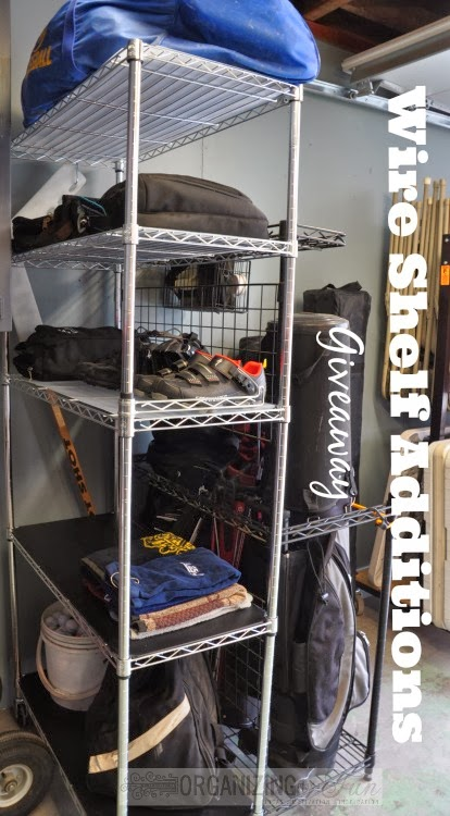 Wire Shelf Additions Giveaway :: OrganizingMadeFun.com