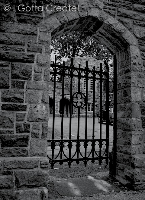 Turning color photos black and white and adding effects can create a spooky vibe. | Visit I Gotta Create!