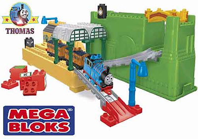 Fun kids construction Thomas toy all aboard at Knapford Station Mega Bloks building bricks playset