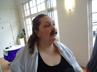 Pippa With an Impressive Moustache
